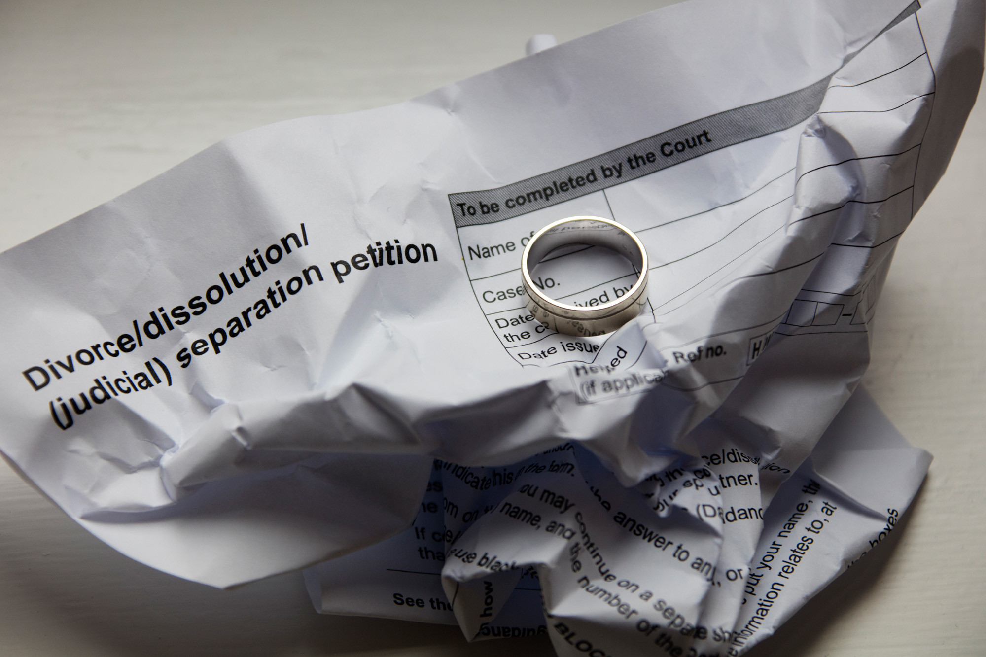 How to fill in a divorce petition
